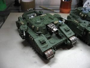Superschwerer Panzer mit Zubehör